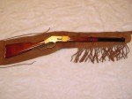 HALF FRINGED SUEDE RIFLE SCABBARD